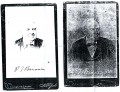 Rubber stamped signature used on cabinet photographs of P.T Barnum. Note that the only difference is that the date