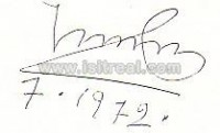 in-person-collected index card - signed during the Olympic Summer Games in Munich 1972  - Reference: PETER MÜLLER -