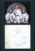 Apollo 11 Autogramm 1969 in Berlin gesammelt