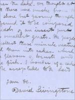 David Livingstone Letter Reveals Explorer Ate Elephant