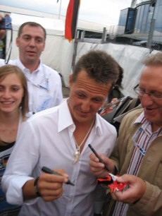 In-Person autograph experience at Hockenheim 2008