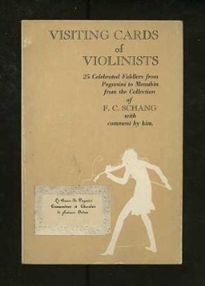 Visiting cards of violinists